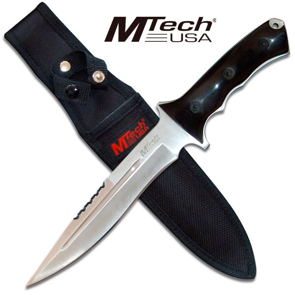 knifearme MT-543S M-Tech Tactical Fixed Blade Hunting Knife With Micarta Handle steel fixed knife blade sharp edge at Sears.com