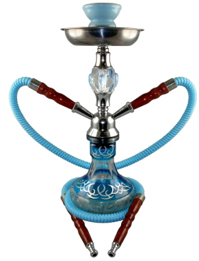 203 tattoo hookah 2 hoses light blue tattoo hookah 2 hoses light blue