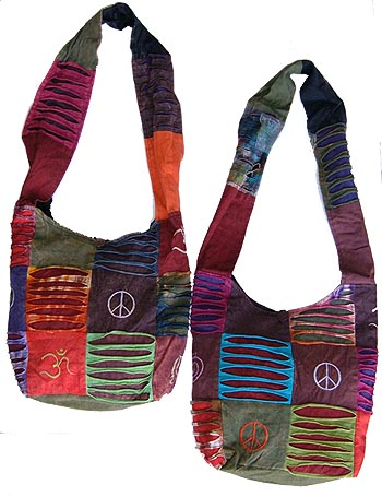 Nepal Peace Sign Hobo Bag
