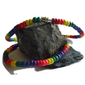 Gay Pride Rainbow Necklace. This is an 20 inch Rainbow Coco Bead Necklace.