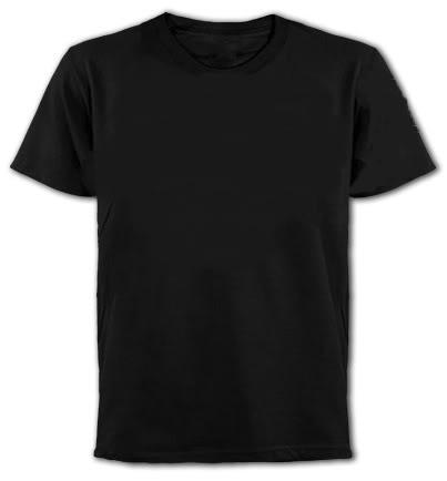 Black Plain Short Sleeve T-