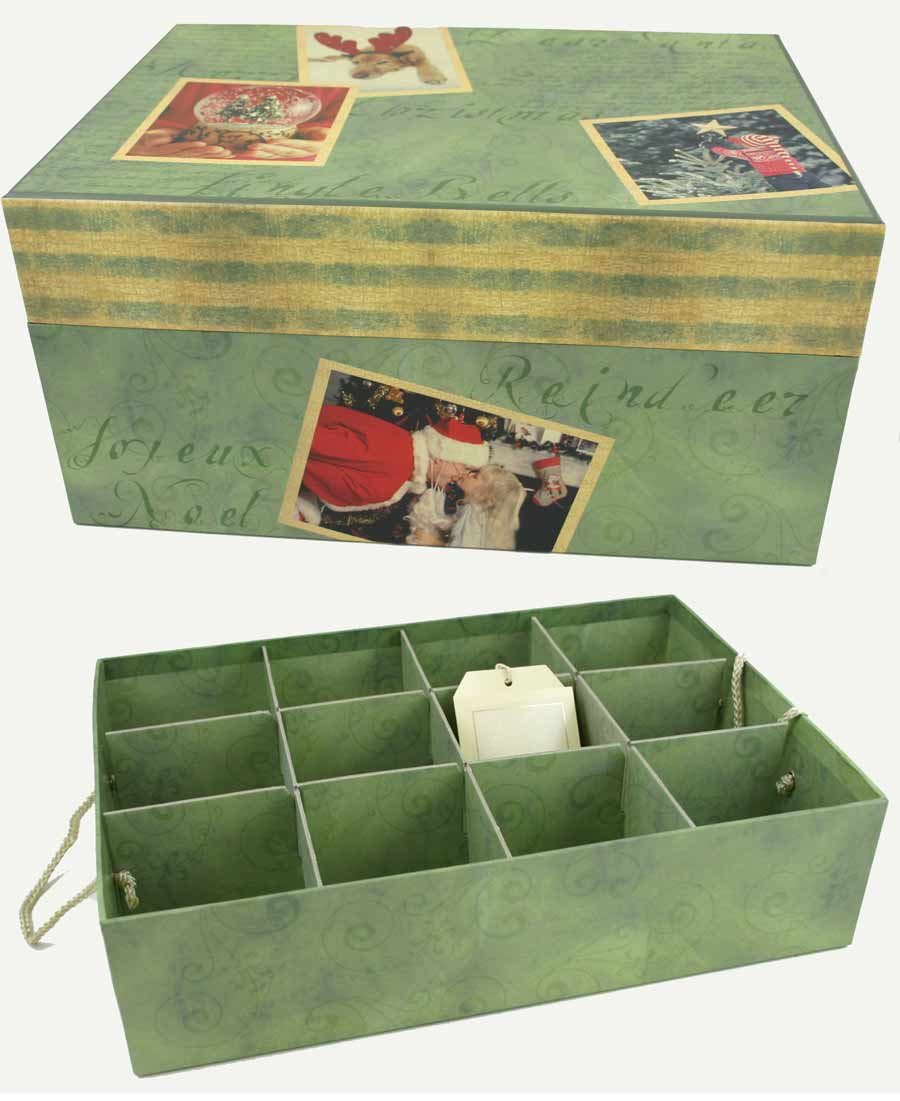 Our christmas memories ornament storage box for Xmas decoration storage boxes