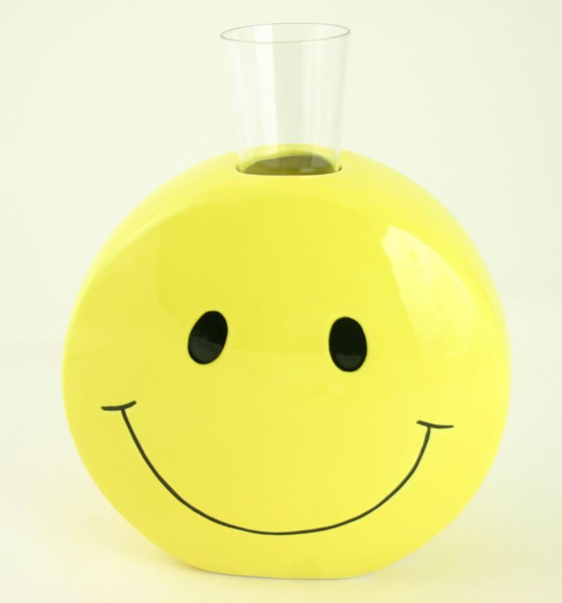 Ceramic Smiley Face Vase