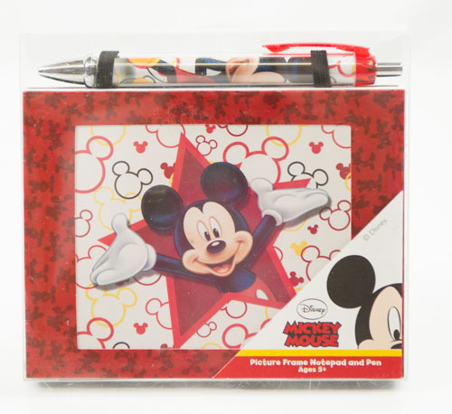 mickey mouse frame with notepad and pen set - Mickey Mouse Picture Frame