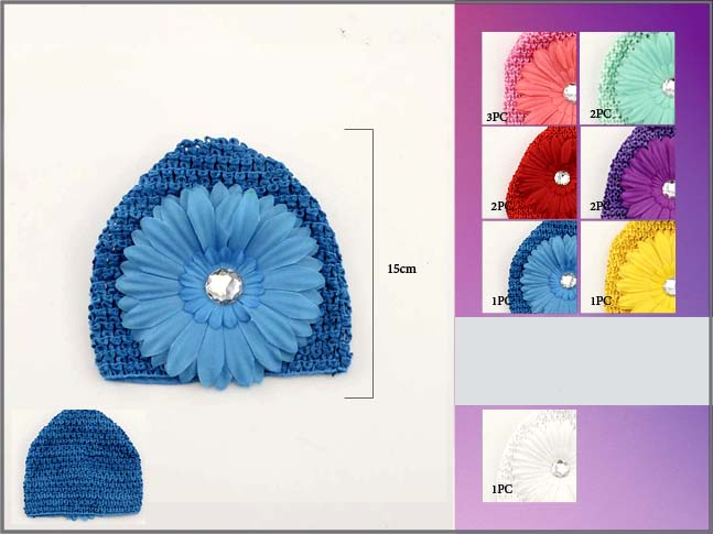 Wholesale-Lot-1Dz-Crochet-Kufi-Beanie-For-Babies-Toddlers-Flower-EWCK2003