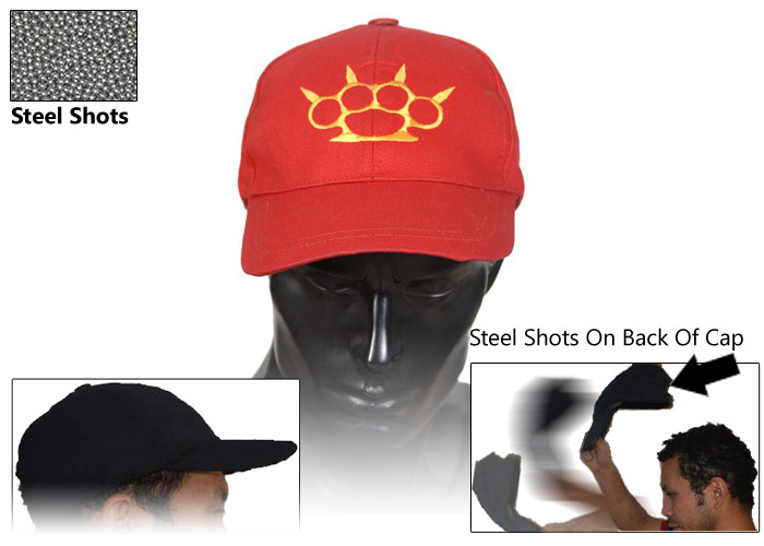 Self Defense Sap Cap - Knuckles (Red), SAP-KN03
