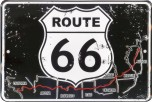 ROUTE 66 With Map Small Sign