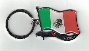 MEXICO ''FLAG'' KEYCHAIN