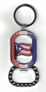 PUERTO RICO FLAG BOTTLE OPENER KEYCHAIN