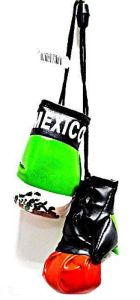 MEXICO FLAG HANGING BOXING GLOVES