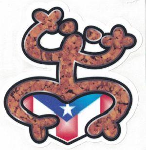 PUERTO RICO FLAG ''COQUI TAINO'' CAR STICKER