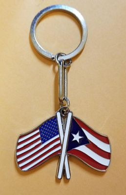 PR & USA FLAGS KEYCHAIN