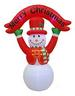 8FT Inflatable Snowman with Merry CHRISTMAS Sign
