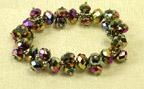 3n1 Chinese Crystal Bracelet in Metallic Color Assorted