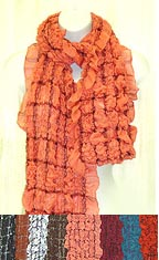 Stretchable Pop-Corn Long SCARF