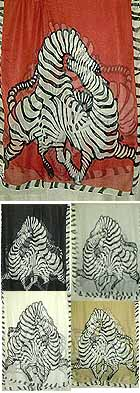 Two Horse Playing - Large Pareo SARONG Scarf