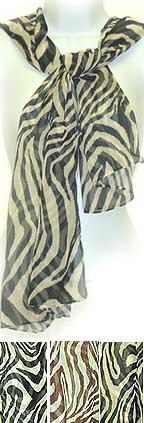 Chiffon Zebra Stripes Light SCARF
