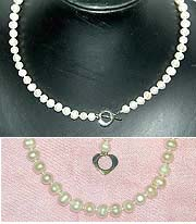 Fresh Water PEARL Short Necklace - Potato White