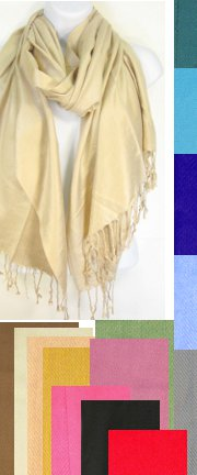 Solid Color PASHMINA Style Shawl / Scarf