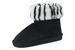 Ladies Faux Suede Animal Pattern BOOTS Black/Zebra