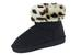 Ladies Faux Suede Animal Pattern BOOTS Black/Leopard