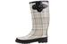 Ladies' Beige Plaid Rubber RAIN BOOTS