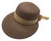 Women Wide Brim Cloche Hat w. Scarf (COFFEE)