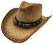 Moroca Straw Cowboy Hats w. LEATHER Band