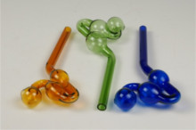 Glass Water Dog PIPE - Colored