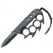 Spring Assisted POCKET KNIFE With Finger Holes Handle