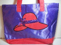 Large Purse - Red Hat Design - Purple - *** SALE ***#RBG-32PU