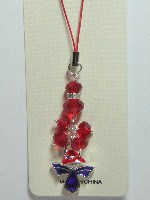 CellPhone Charm-RED HAT Purple Stone Angel-**SALE**#RJW-342(1-408
