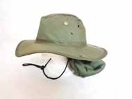 FISHING Hat w/ Cover-Olive  Green-#GJBH-002