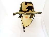 FISHING Hat w/Shade -Green Camo #GJBH-002