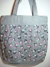 TOTE BAG - Large Size - Pirate/Skull Design - #R080423-6