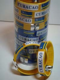 Open BANGLE in Canister -''CLOSE OUT''  Curacao - Yellow/Royal Blue