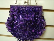Sequin Beaded Bag - * SALE * - #RBG-06 -Purple