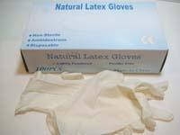 Natural Latex GLOVES - Disposable-#GLTB2-100pcs/box-S, M, L ,XL