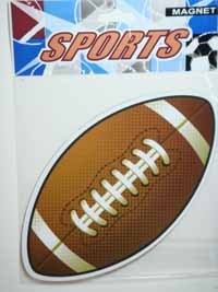 Car Magnetic Sign - FOOTBALL / Oval - #LGT-015