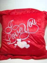 PILLOW - ''I Love You'' w/ Heart - #86735 - Red