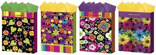 B2 FLOWERS & Hearts - Medium Gift Bags