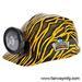 Gold and Black Tiger Print Miner HELMET