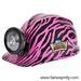 Pink Zebra Design Miner's HELMET