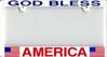 LICENSE PLATE Frame (''God Bless America'')
