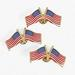 24 Patriotic Double USA FLAG clutch pins