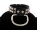 Pyramid Studded LEATHER Ring Choker.