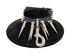 LEATHER Snap 2'' Spikes Choker