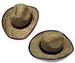 BROWN ZIG ZAG COWBOY STRAW HATS