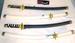 BLACK & WHITE PLASTIC NINJA SWORDS