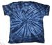 NAVY BLUE SPIDER PETITE TIE DYED TEE SHIRT